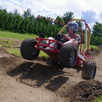 Crosskarten of Sandbuggy rijden met Adventure Events