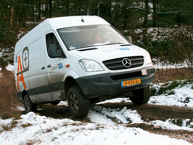 Training 4x4 rijden met bedrijfswagen