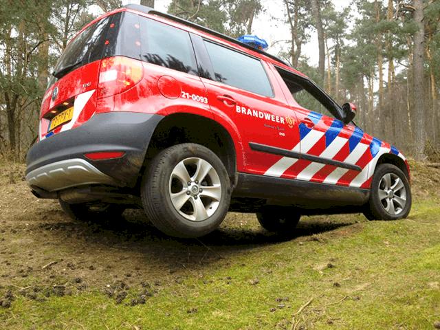 Training 4x4 rijden met brandweerwagens