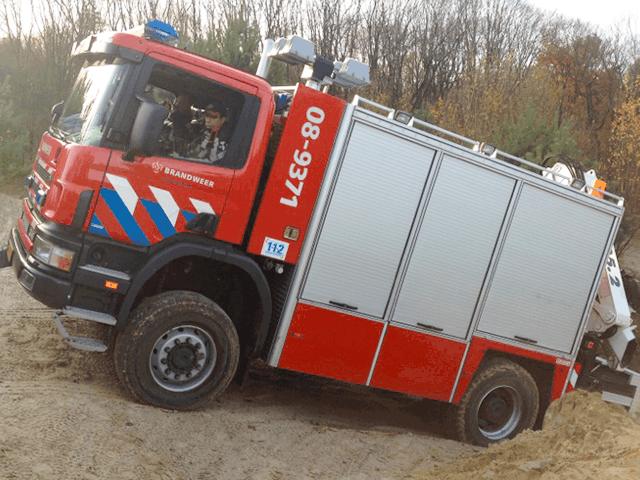 4x4 rijden training voor de brandweer
